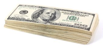 Pile of dollars Royalty Free Stock Images