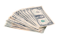 Pile of dollars. On white background Stock Photo