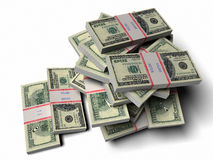 Pile of dollars Stock Photography
