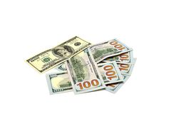 Pile of dollars, counting Stock Photo