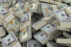 Pile of Dollars. Three-dimensional Shape Stock Image