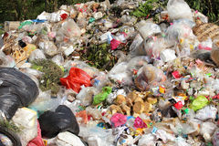 Pile of domestic garbage. Pollution of environment Royalty Free Stock Photos