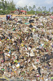 Pile of domestic garbage in Thailand. Royalty Free Stock Photography