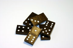 Pile of Dominos. Pile of black and white dominos royalty free stock photography