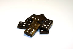 Pile of Dominos 2. Pile of black and white dominos royalty free stock image