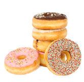 Pile of donuts royalty free stock photo