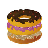 A pile of donuts Stock Photography