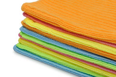 Pile double color towels Stock Images