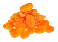 Pile of dried apricots Stock Photo