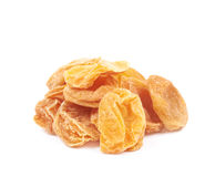 Pile of dried apricots  Royalty Free Stock Photo