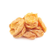 Pile of dried apricots isolated Royalty Free Stock Photos