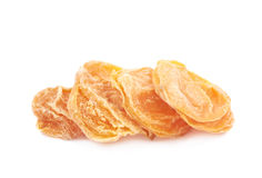 Pile of dried apricots isolated Stock Photos