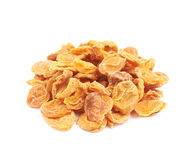 Pile of dried apricots isolated Stock Images