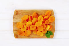 Pile of dried apricots Stock Images