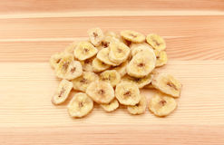 Pile of dried banana chips Royalty Free Stock Image
