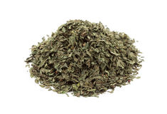 A pile of dried basil leaves Royalty Free Stock Photos