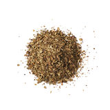 Pile of dried basil seasoning isolated Royalty Free Stock Images