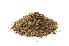 Pile of dried basil seasoning isolated Royalty Free Stock Photos