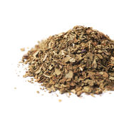 Pile of dried basil seasoning isolated Royalty Free Stock Photo