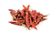 Pile of dried chilli Royalty Free Stock Images