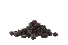 Pile of dried dark cherries isolated Stock Photography