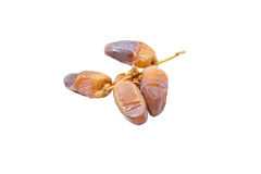 Pile of dried date fruits isolated on white background. Stock Photo