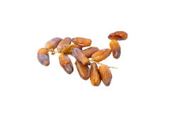 Pile of dried date fruits isolated on white background. Stock Photography