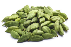 Pile of dried green cardamom pods, paths Stock Photos