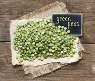 Pile of Dried  Green Split Peas Stock Photography
