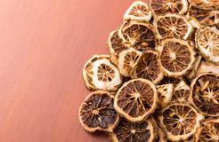 Pile of dried lime slices Royalty Free Stock Image