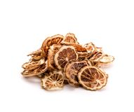 Pile of dried lime slices Royalty Free Stock Images