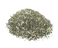 Pile dried mint leaves for tea isolated Royalty Free Stock Photography