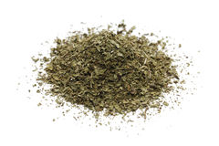 Pile of dried mint Stock Images