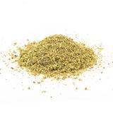 Pile of dried oregano leaves on a white background.  royalty free stock photos