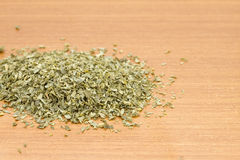 Pile of dried parsley Stock Photos