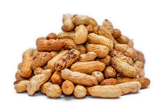 Pile of dried peanuts Stock Photography