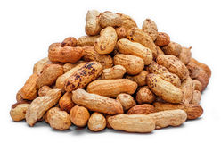 Pile of dried peanuts Royalty Free Stock Images