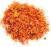 Pile of dried saffron Stock Photo