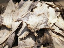 Pile of dried Salted Cod