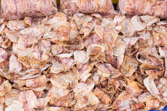 Pile of dried squid Stock Image