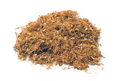 Pile of dried tobacco Stock Images