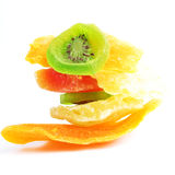 Pile of dried tropical fruits Stock Photo