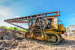Pile driver Royalty Free Stock Images