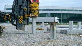 Pile driver machine. Stock Image