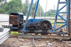 Pile driver transmission Stock Image