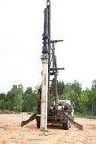 Pile driver  work Stock Photo