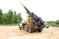 Pile driver  work Stock Image
