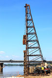 Pile driver working Royalty Free Stock Photos