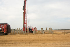 Pile driving stock photography