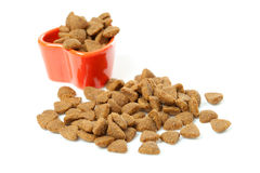 Pile of dry cat food Stock Images